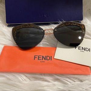 New Fendi 66mm cat Eye sunglasses